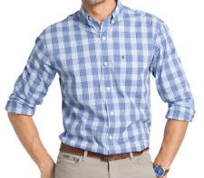 IZOD Mens LS Stretch Non-iron Shirt, Powder Blue, Size M