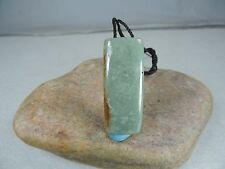Guatemalan Jadeite Bead - Cut From Rough Guatemala Jade Slab