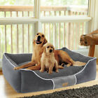 Dog Bed Bolster Jumbo Large Medium Pet Cushion House Waterproof Soft Warm Beds