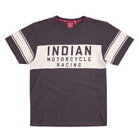 Indian Motorcycle Men's Wrecking Crew T-Shirt with Stripe, Gray