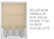 ROLLER BLIND TRIANGULAR PEAK SIZE 60 CM WIDE X 160 CM DROP COLOUR LATTE