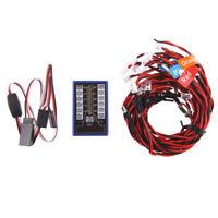Power 12 LED Flash Headlight System Kits For RC Car 1/10 Smart PPM/FM/FS Hot