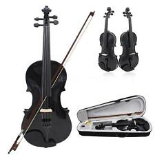 Black 4/4 Full Size Violin Fiddle Basswood Arbor Bow for Beginners X4D6