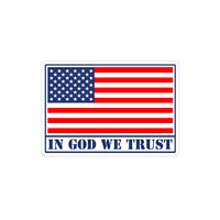 IN GOD WE TRUST Sticker USA American Flag Car Windshield Bumper Letter Decal