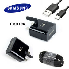 100% GENUINE Samsung Galaxy S8 Plus A5 2017 Fast Charger Plug & USB Type C Cable