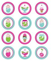 BABY SHOWER Edible Cupcake Topper Image Frosting Cookie PICKLES & ICE CREAM