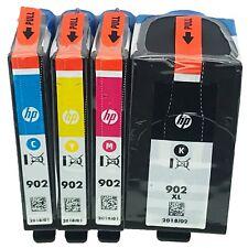 2018 HP 902XL Black & 902 Color 4-PACK GENUINE Ink OfficeJet 6950 6951 6954 6960