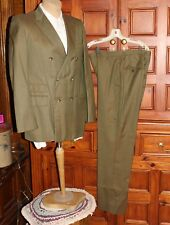 Vtg Juilliard Wool Sharkskin Suit Jacket Pants Color Change Brown Green Shimmer