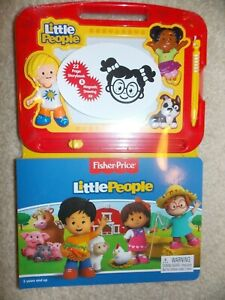 Fisher Price Little People Storybook and Magnetic Drawing Kit