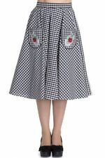 Cotton Check Women's Skirts Flare