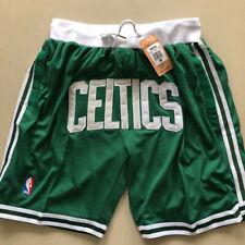 Boston Celtics Shorts JUST DON SHORTS GREEN NBA Sewn Size S-2XL High Quality