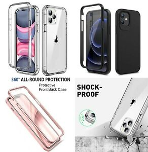 for iPhone 13 12 13 Pro 11 Case Full Body Slim TPU Gel Protective Phone Cover