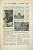 1921 Magazine Article Building Cedar Canyon Road Cedar City to Navajo Lake Utah