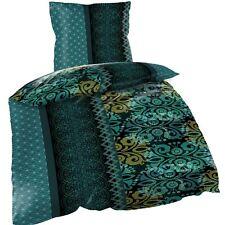 Mikrofaser Bettwäsche 200x200cm 3 tlg Orient grün