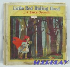 78rpm Vulcan Records Junior Operetta LITTLE RED RIDING HOOD 3 Record Set 1923