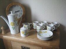 Vintage Myott Coffee Set Inc Milk Jug, Coffee Pot Cups & Saucers + Sugar Bowl