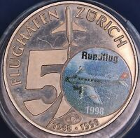 Medallion medal 50 years of Zurich Airport 1948-1998 *[13676]