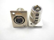 Switchcraft D3F 3 Pin Female Panel Mount Jack (NOS,New Old Stock)(QTY 1 ea)F26