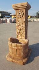 Novità Fontana  cemento rustica fontanella esterno giardino  con tinozza secchio