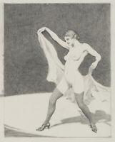 Carl WALTHER (1880-1956), Tänzerin, Weiblicher Akt, Bleistiftzeichnung