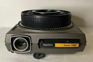 Vintage Keystone Gravity 1100 Rotating Slide Projector w/ Keystone 80 Slide Tray