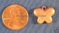 6pc Raw Copper Flowered Tulip Butterfly Lockets 4082
