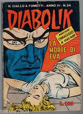 FUMETTO= DIABOLIK ed. Astorina 1967 VI anno n. 24