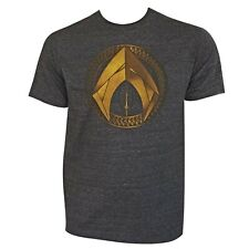Aquaman Movie Symbol Men's T-Shirt Grey