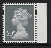 GB 2013 U3076 50p Slate M13L MPIL Navy booklet stamp MNH ex U3017