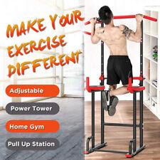 Estación de Musculación Torre de Entrenamiento Gimnasio Barra de Flexiones y Dip