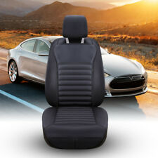 AU Breathable Car Front Seat Cushion  Black Cover PU Leather Filled buckwheat