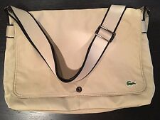 LACOSTE Large Unisex Shoulder Messenger Laptop Bag New City Casual Summer Sand