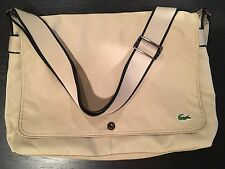 LACOSTE Large Unisex Shoulder Messenger Laptop Bag New City Casual Summer Sand