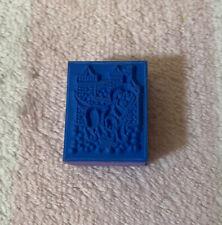 "Vintage Lisa Frank Sandcastle Puppy Mini Foam Rubber Stamp - 1"" x 13/16"""