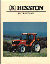 "Hesston Fiat ""Winner Series"" F110 and F110DT Tractor Brochure Leaflet"