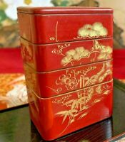 Japanese Lacquer Box Red Jyubako Jubako Makie Maki-e Meiji Era Old Japan Antique