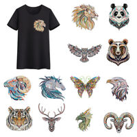Clothes Animal Patches Heat Transfer Stickers DIY Printing Iron On Appliques DIY