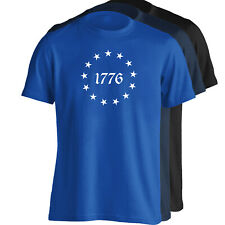 Betsy Ross 13 Star Original USA American Flag T-Shirt - Sizes S-5XL - 3 Colors