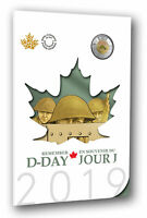 2019 Canada 6 Coin D-Day Commemorative Collector Keepsake Special Toonies Colour