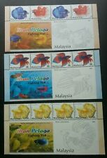 Fighting Fish Malaysia 2003 Ornamental Pet Aquarium Marine (stamp title) MNH