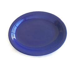 HOMER LAUGHLIN FIESTA Cobalt Blue SERVING PLATTER Vintage 9 7/8 x 12 5/8 Inches