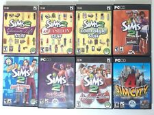 The SIMS 2 Expansion Packs (7) + SIM CITY 4 Deluxe Edition PC (14 discs total)