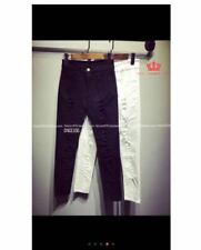 BLACK TATTERED JEANS (S-5XL) SIZE XL