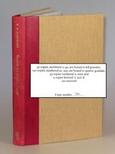 T.E. Lawrence - Towards 'an English Fourth', Castle Hill 1/4 goatskin, copy #100