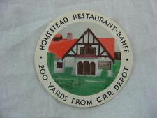Vintage Souvenir Card Homestead Restaurant Banff CPR Depot Canada 801