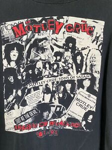 Vintage Motley Crue T-shirt by The Brockum Group XL 1991 Decade of Decadence