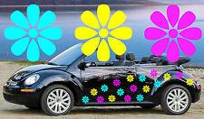 18, rosa, azzurro & Giallo Tear Drop DAISY Auto Decalcomanie, Adesivi, Auto grafica