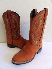 Laredo Cowboy Boots Orange Suede Leather Womens 7M