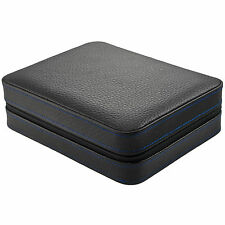 4 Watch Box Travel Case Leather Buffalo Skin Pattern  Gifts for Men MSRP $150