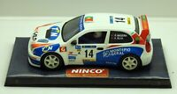Ninco Toyota Corolla Galp RACC No.14 Rally car VGC 1/32 Slot car #50179